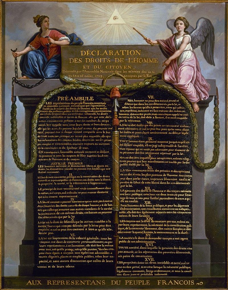 Déclaration des Droit de l'Homme 1789